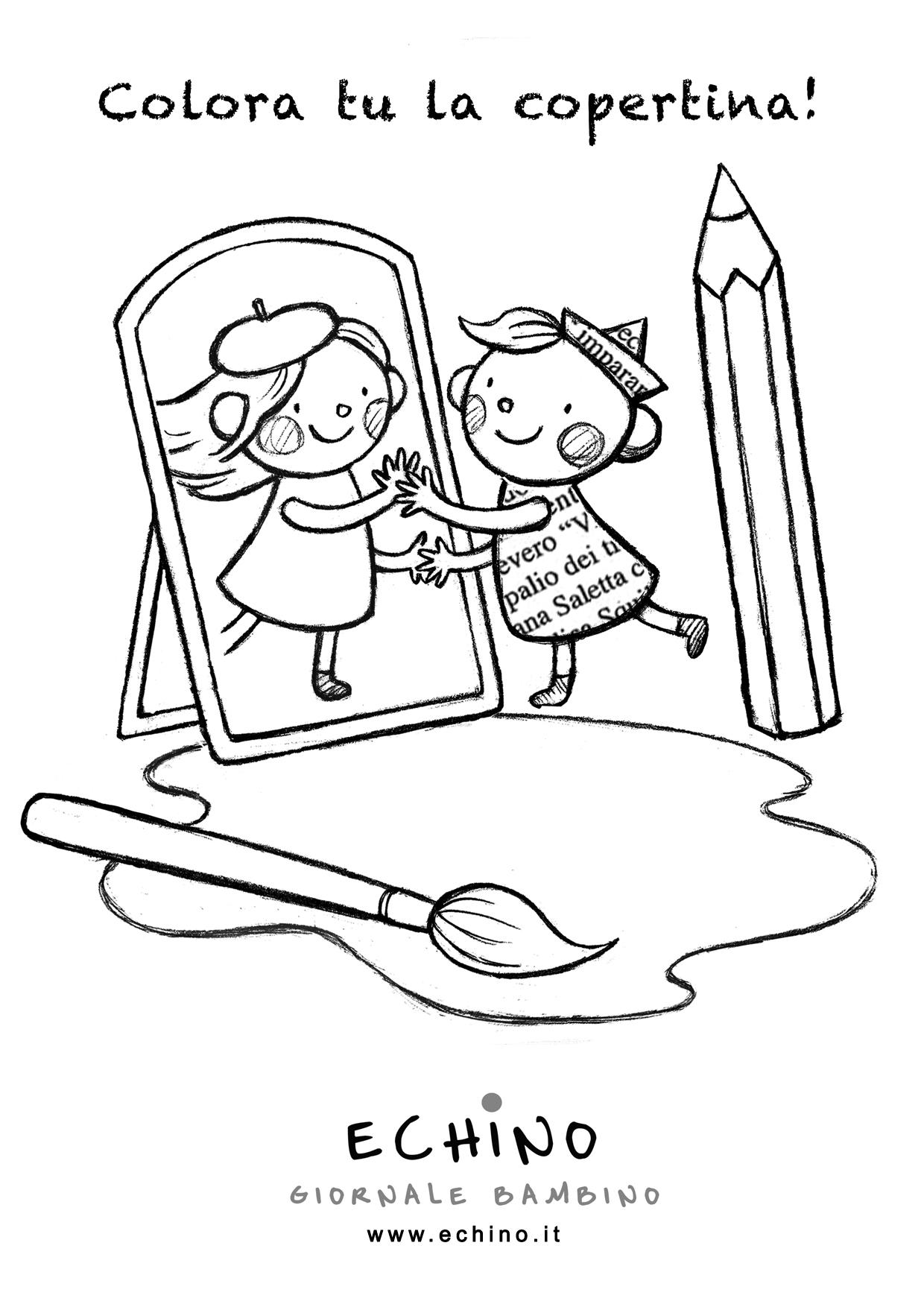 Le pagine da colorare echino giornale bambino casa - Dipingere pagine da stampare ...