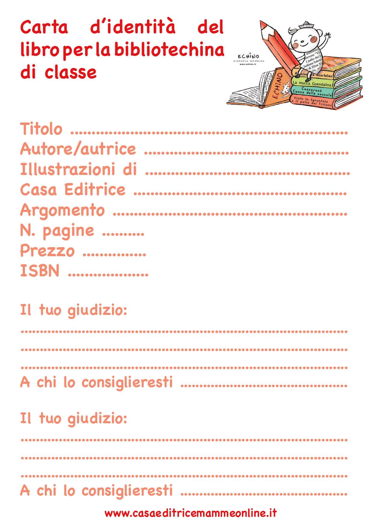 Raccogliere le carte d 39 identit dei libri della biblioteca - Modelli di colorazione per bambini ...