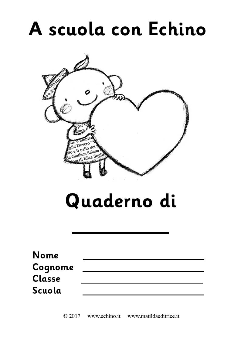 Top Le copertine per i quaderni | @Echino Giornale Bambino - Casa  XX78