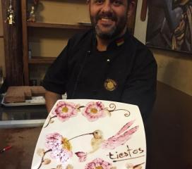 Lo chef del ristorante Testos di Cuenca. Ecuador