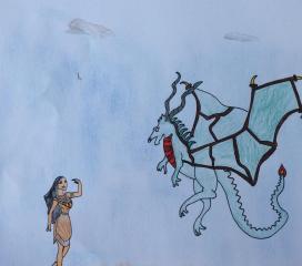 Ricordati di essere folle: sii infuocata come il drago che in te ribolle. Lorenzo