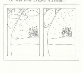 Colora il paesaggio autunnale e invernale