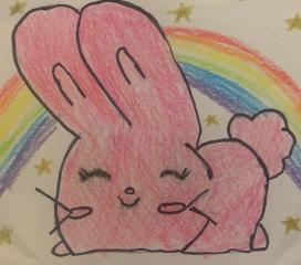 Ricordati di essere premurosa: sii tenera come un coniglietto rosa. Matilda
