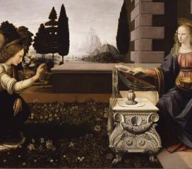 Annunciazione di Leonardo da Vinci, Uffizi