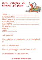 Carta d'identtà del libro per i più piccini